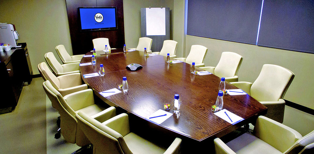 The Boardroom meeting space at Voila