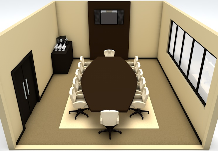 The Boardroom meeting space at Voila Hotel, Mauritius